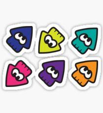 Splatoon-Stil Tintenfische Sticker