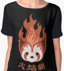 Legend of Korra: Fire Ferrets Pro Bending Emblem Chiffon Top