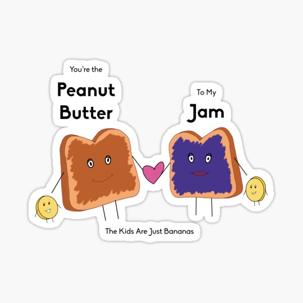 Pb and J Couple, Family  Sticker