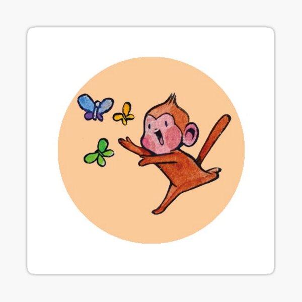 Butterfly Monkey Sticker