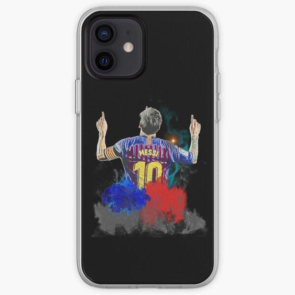 Arte digital de la celebración de Messi Funda blanda para iPhone