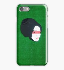 Woman, Red, Green iPhone Case/Skin