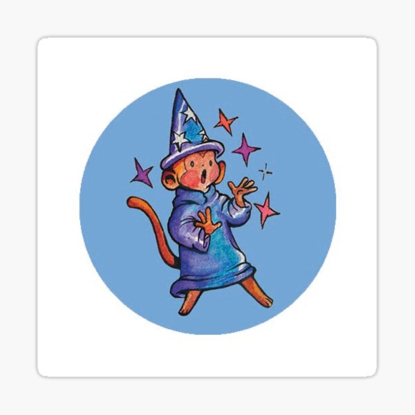 Wizard Monkey Sticker