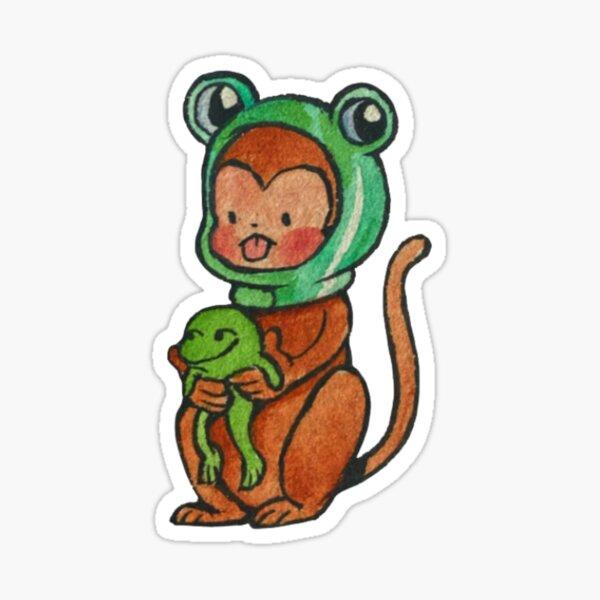 Frog Monkey Sticker