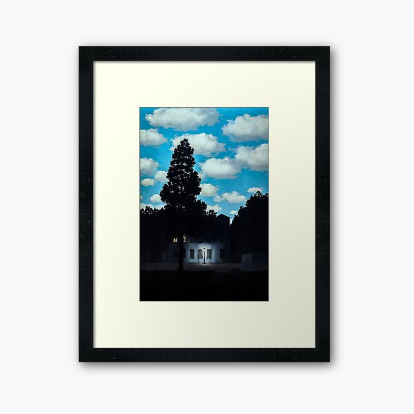 The Empire of Light by René Magritte Framed Art Print