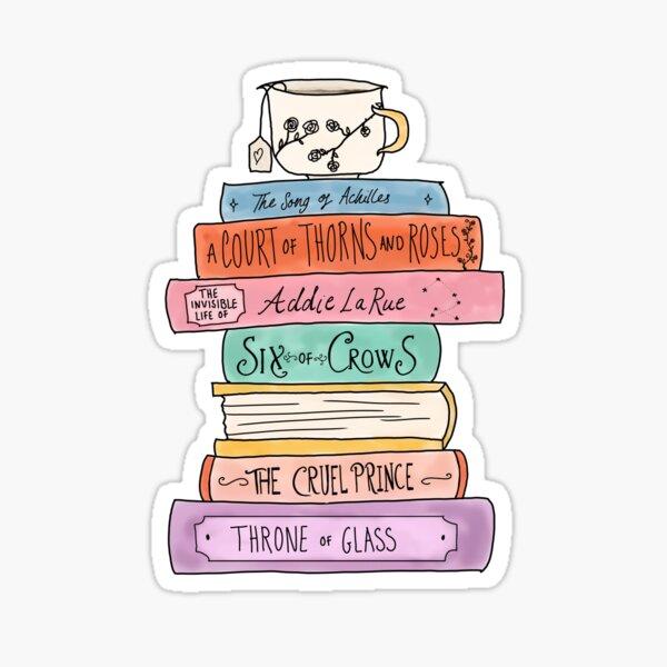 YA fantasy book stack Sticker