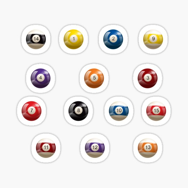 Pool Billiard , balls Pack Sticker