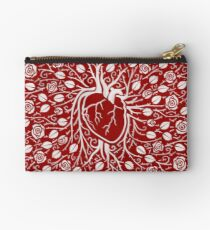 Human heart and rose vine Studio Pouch