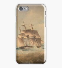 Thomas Lyde Hornbrook (London ) British barque on a stormy sea off coast iPhone Case/Skin