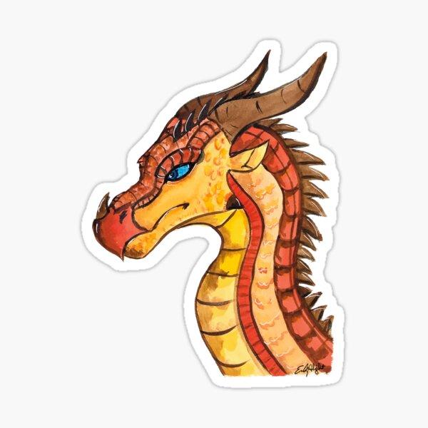 Dragon - Peril in watercolor Sticker