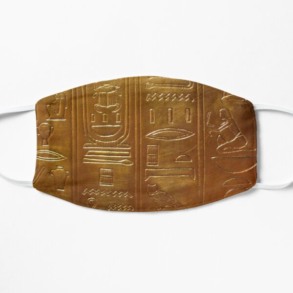 Gold Tab Hieroglyph Flat Mask