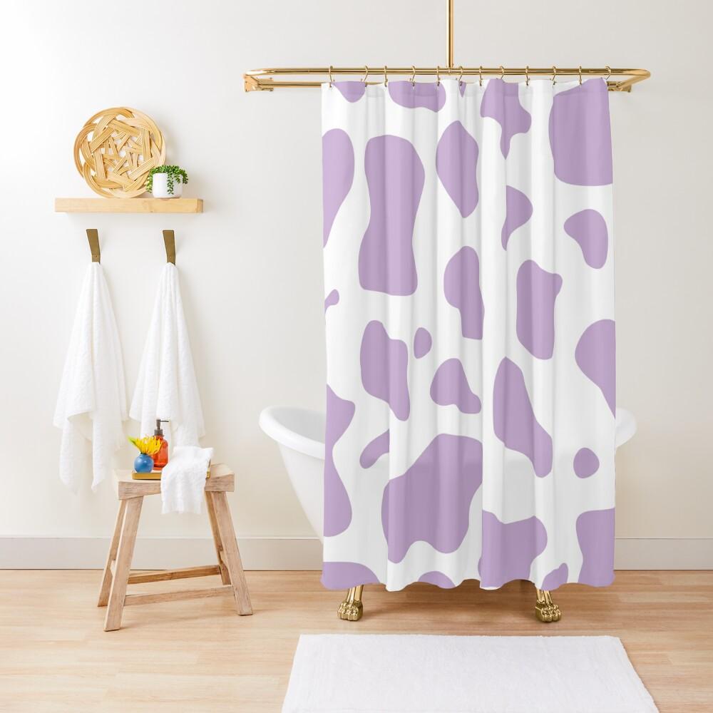 purple cow print pattern, mooo Shower Curtain