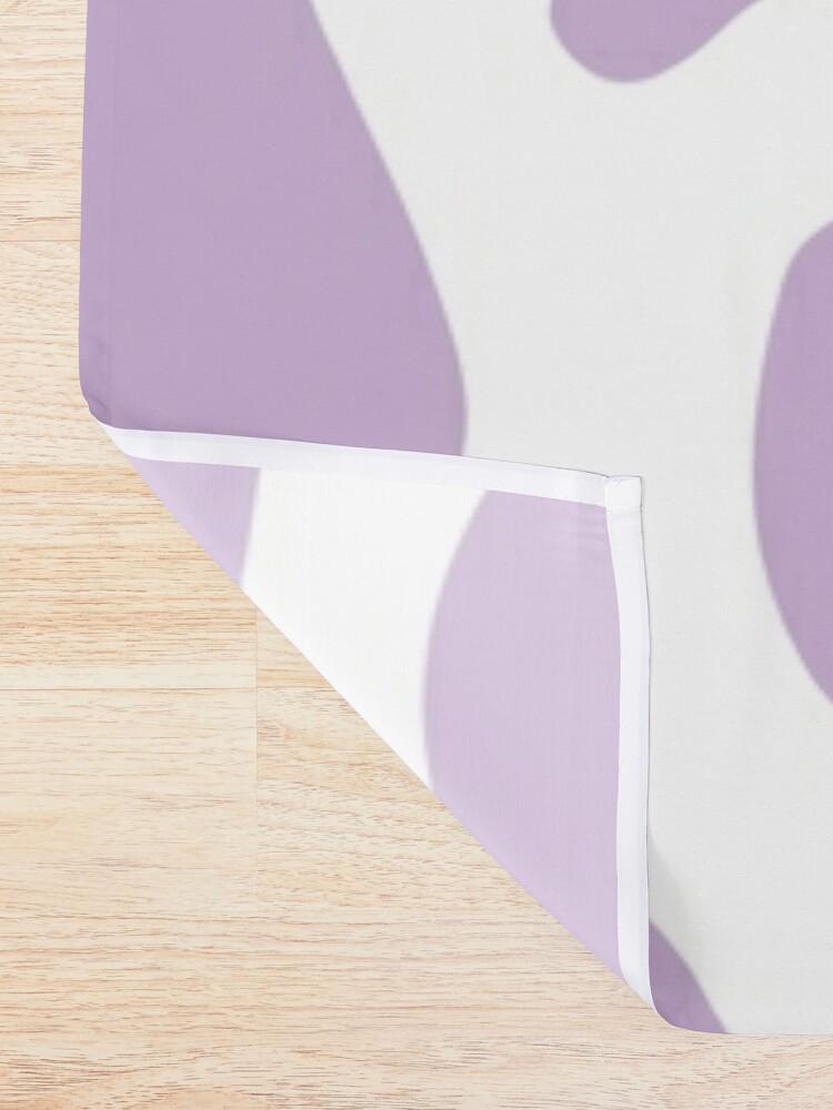 Alternate view of purple cow print pattern, mooo Shower Curtain