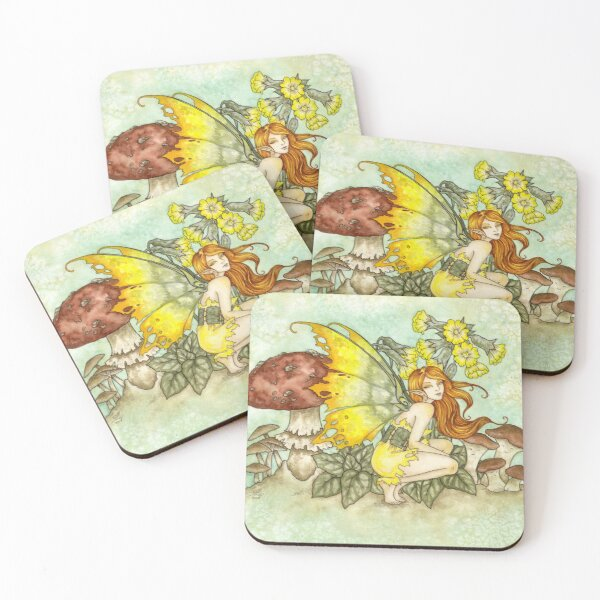 Cowslips Coasters (Set of 4)