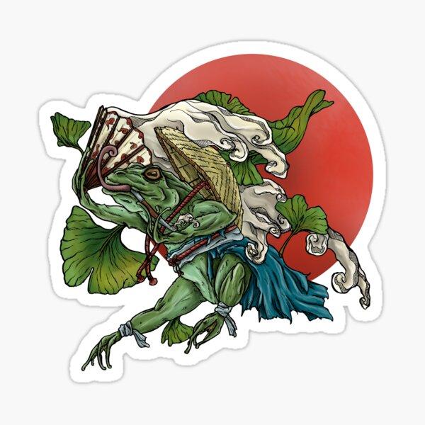 Japanischer Frosch Sticker