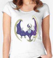 POKEMON SUN AND MOON - LUNALA Women's Fitted Scoop T-Shirt