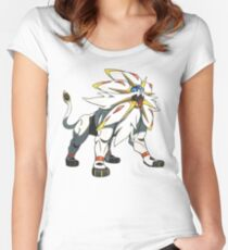 POKEMON SUN AND MOON - SOLGALEO Women's Fitted Scoop T-Shirt