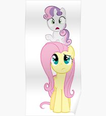 Fluttershy and Sweetie Belle Poster