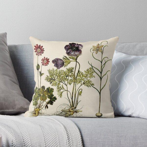 Botanica Nostalgia II plant botanical study Throw Pillow