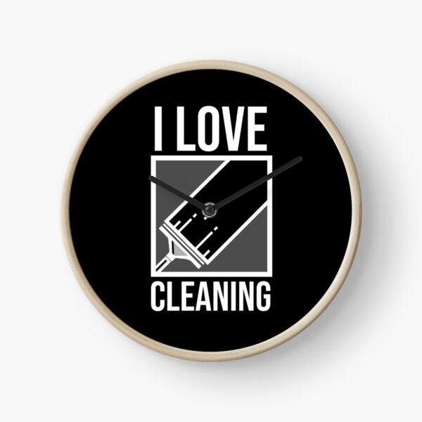 Clean Freak - I Love Cleaning Clock