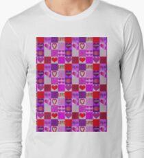 Patchwork Romantic Hearts Pattern T-Shirt