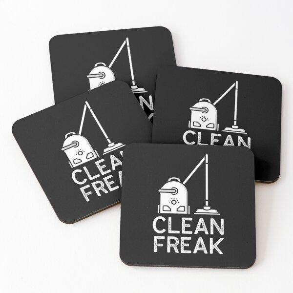 Clean Freak - I Love Cleaning Coasters (Set of 4)