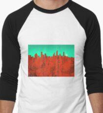 Gold Coast, Queensland, Australia Skyline - RED Men's Baseball ¾ T-Shirt