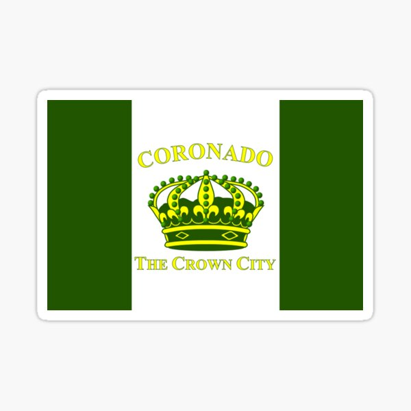 CORONADO City Flag Sticker