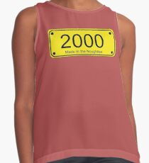 Born in the Noughties T-shirt ~ 2000s Car License Plate Card Contrast Tank