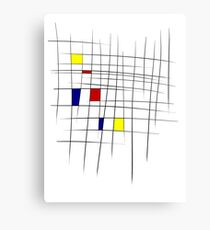 Sketchy Mondrian Metal Print