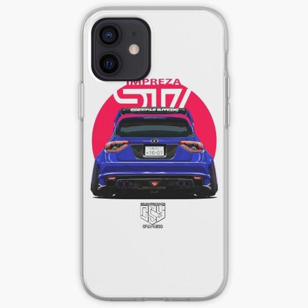 BLUE Impreza WRX STI iPhone Soft Case
