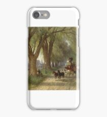 Albert Fitch Bellows (American, ). Coaching in New England, ca.  iPhone Case/Skin