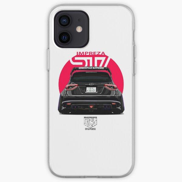 BLACK Impreza WRX STI iPhone Soft Case