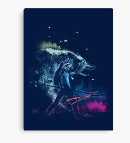 princess of the forest Canvas Print