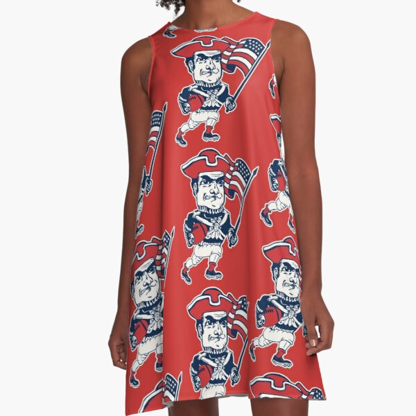 Patriots ))(( Retro Mascot Fan Design A-Line Dress
