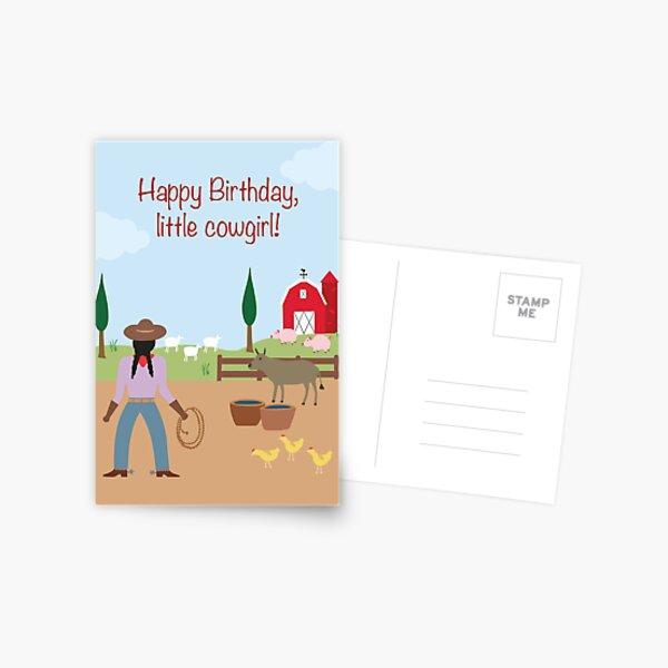 Little Cowgirl Postcard