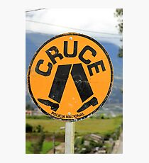Spanish Crosswalk Sign Photographic Print