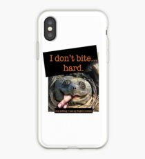 Snapping Turtle - I don't bite hard. Just kidding. I had my fingers crossed. iPhone Case
