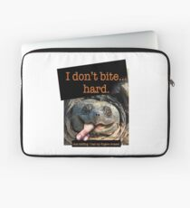 Snapping Turtle - I don't bite hard. Just kidding. I had my fingers crossed. Laptop Sleeve