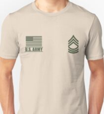Master Sergeant Infantry US Army Rank Desert by Mision Militar ™ Unisex T-Shirt