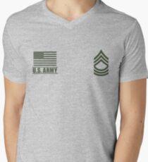 Camiseta de cuello en V Sargento de infantería del ejército de Estados Unidos Desert Rango de Misión Militar ™