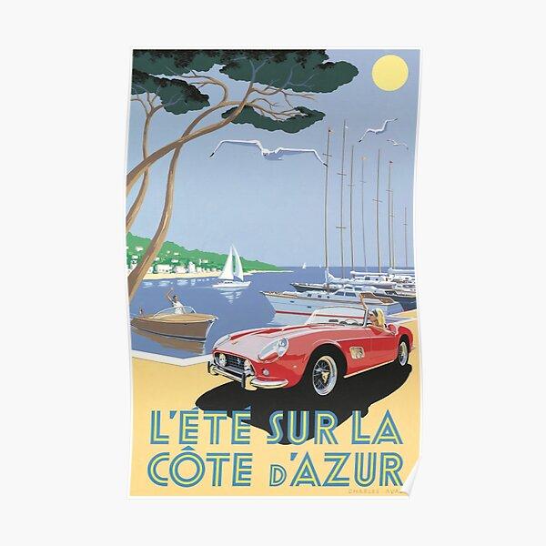 Affiche CÔTE D'AZUR - France - L'été sur la côte ! Poster