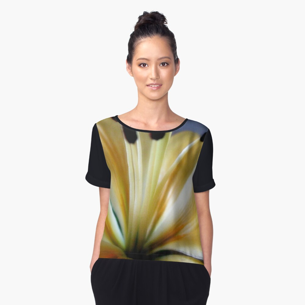 pastels in nature Women's Chiffon Top Front