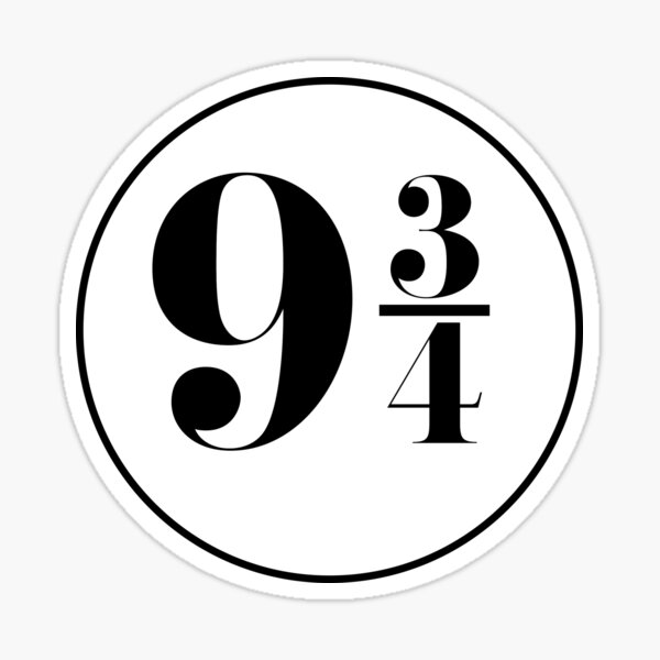 Platform 9 3/4 (design 01) Sticker