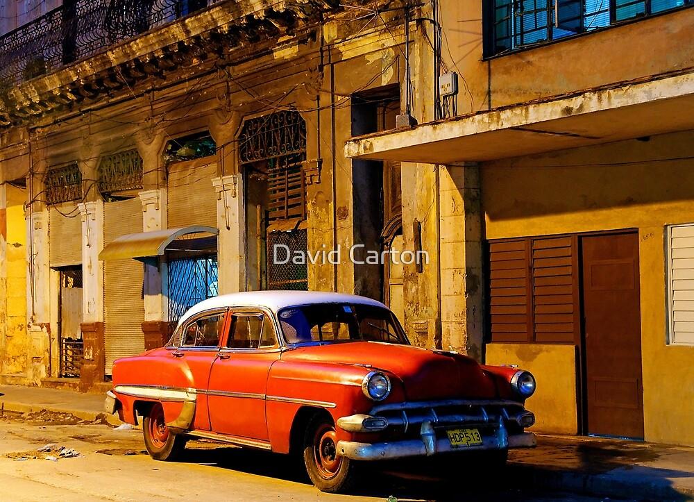 Classic American car at Dawn, Havana, Cuba by David Carton