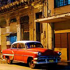 Classic American car at Dawn, Havana, Cuba by David Carton