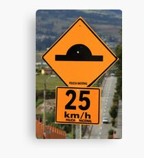 Speed Bump Sign Canvas Print