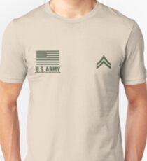 Corporal Infantry US Army Rank Desert by Mision Militar ™ T-Shirt