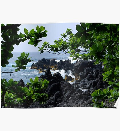 Lava beach in Paradise Poster