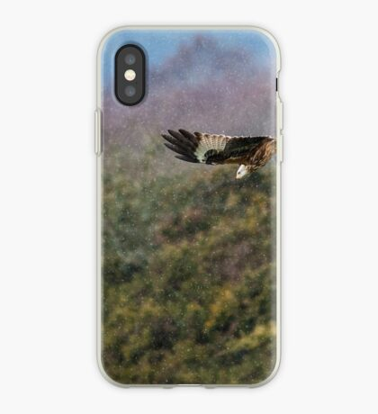 Red Kite in hale storm iPhone Case